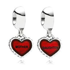 "Mother/Daughter Pandora Charms - ""daughter"" charm...gift from Mom & she has the other half ""mother"" charm"