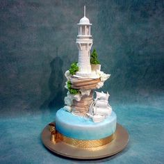 Lighthouse And Boat Cake