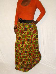 African Print Maxi Skirt or Dress
