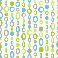Girls Retro Blue Lime Green Beaded Curtain on White Wallpaper PW4069 | eBay
