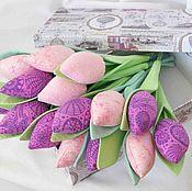 Букеты из тюльпанов - купить или заказать в интернет-магазине на Ярмарке Мастеров   Приближается самый долгожданный весенний…