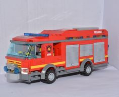 Ideas For Lego Fire Truck Vehicles Diy Vintage Toys, Fire Truck Craft, Monster Truck Room, Lego Fire, Lego Police, Lego Truck, Small Trucks, Truck Interior, Lego Worlds