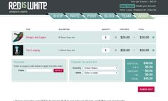 Shopping Cart Page Design