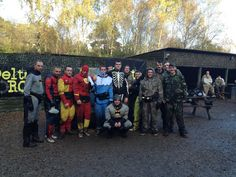 Even superheroes love Delta Force Paintball! #paintball #stag #men #boys #fun #friends #party #costumes #outfits #gear