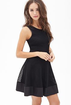 Mesh Fit & Flare Dress | FOREVER21 - 2055879080