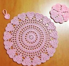 Crochet Edging Patterns, Doily Patterns, Crochet Designs, Crochet Box Stitch, Basic Crochet Stitches, Crochet Keychain Pattern, Crochet Placemats, Crochet Dollies, Crochet Bedspread