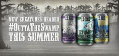 Swamp Head Big Nose IPA and Wild Night Honey Cream Ale cans debut