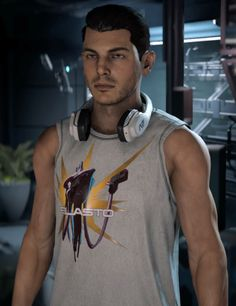 """danaduchy: """"New casual outfit """" Mass Effect Characters, Mass Effect Games, Mass Effect 1, Date Outfits, Casual Outfits, All Video Games, White Skinny Jeans, Dating, Mens Tops"""