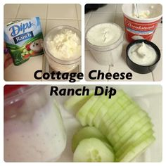 Cottage cheese ranch dip. Mix until creamy. Tastes great!