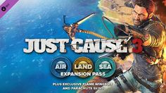 Square Enix revealed that Just Cause 3 is getting Air, Land and Sea Expansion Pass including exclusive Wingsuit and Parachute skins