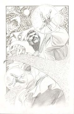 This is a sketch of Doctor Strange, drawn by Alan Davis.