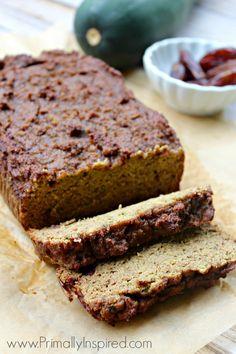 5 minute Zucchini Blender Bread Recipe from Primally Inspired (No Grains, No Added Sugar!) #paleo