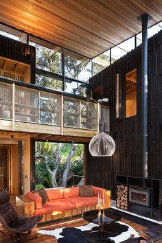 Modern beach house,architecture,beach house,vacation house,New Zealand