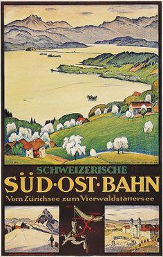 Schweiz Sudostbahn (SOB : Swiss South Eastern Railway) / Ernst Emil Schlatter