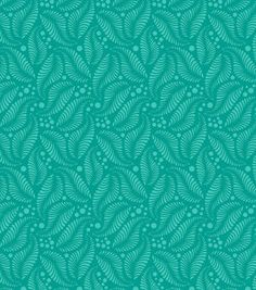 Modkid Studio by Patty Young Cotton Fabric-Falling Feathers Teal