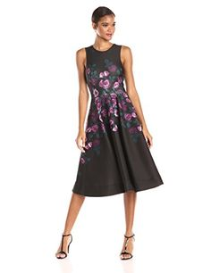 f1a42c77ef323 ERIN erin fetherston Womens Fleur Print Fit and Flare Dress BlackMulti 6  >>> Find out more about the great product at the image link.