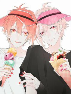Nanase Riku and Nana Nanase Riku and Nanase(Kujo) Tenn Manga Boy, Chica Anime Manga, Hot Anime Boy, Anime Kunst, Anime Art, Cute Characters, Anime Characters, Kawaii Anime, Anime Siblings