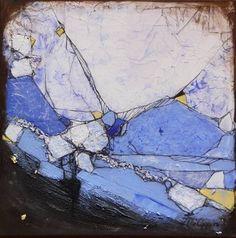 """Inge Philippin -  """"Hidden Treasures"""" - mixed media on canvas"""