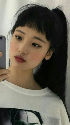 asian makeup – Hair and beauty tips, tricks and tutorials Makeup Korean Style, Asian Makeup, Aesthetic People, Aesthetic Girl, Hair Inspo, Hair Inspiration, Hairstyles With Bangs, Cool Hairstyles, Japonese Girl