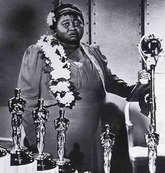 Hattie Mcdaniel (1892 - 1952) Her part in Gone with the Wind (1939) won her the Oscar for Best Supporting Actress, the first African American to win an Academy Award.
