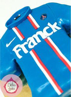 Gâteaux personnalisés, Paris, Passion, Gourmandise, Anniversaire, Gâteau d'anniversaire, Cake design Paris, Birthday cake, Foot, Football, Maillot de foot, PSG