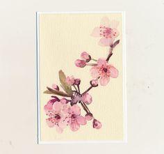 maľovaná pohľadnica - rozkvitnutá vetvička