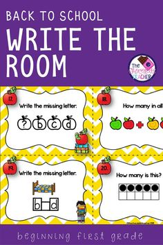 This is a fun activity for the first week of school for your first grade students. It gets them up and moving while they practice their math and phonics skills.