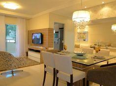 gesso sala de estar e jantar apartamento - Pesquisa Google