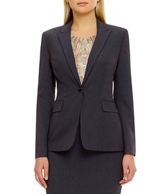 Calvin Klein One-Button Jacket Suits For Women, Jackets For Women, Calvin Klein One, Girls Dresses Online, Jacket Buttons, Fashion Outfits, Womens Fashion, Dillards, Things To Sell