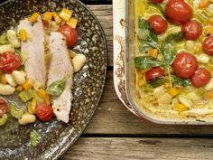 Kalbstafelspitz aus dem Ofen mit Bohnen und Tomaten