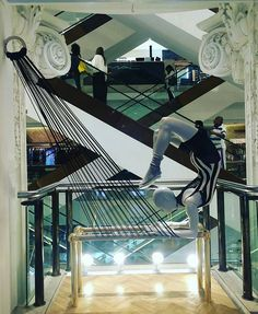"""SELFRIDGES, London, UK, """"You don't get the ass you want by sitting on it"""", photo by TrendZ Bureau, pinned by Ton van der Veer"""