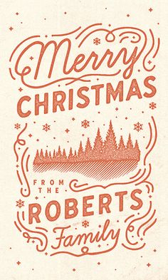 type-lover:   Christmas Card  by Jay Roberts