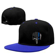115ef8d4 Thin Blue Line The Punisher Logo Men Adjustable Baseball Snapback Hat Red