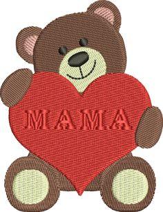 Freebie: Mamabär - für den 10x10cm Rahmen
