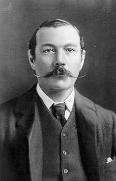 Sir Arthur Conan Doyle (1859-1930). British writer of many genres, including mystery, detective, fantasy, science fiction, historical, and nonfiction. Best know for his Stories of Sherlock Holmes and The Lost World.