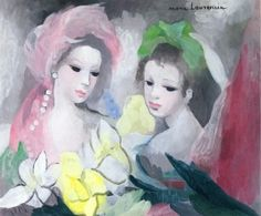 Two Girls with Flowers - Marie Laurencin - The Athenaeum