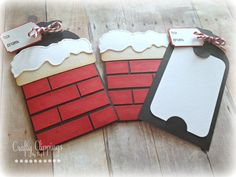 Christmas Gift Card Holder Santa Card by CraftyClippingsbyPeg