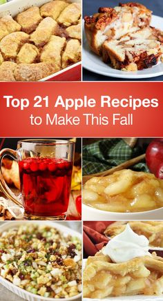 Top 21 Apple Recipes to Make This Fall – The Dish by KitchMe Apple Dessert Recipes, Fruit Recipes, Apple Recipes, Fall Recipes, Sweet Recipes, Cooking Recipes, Recipies, Ww Desserts, Fruit Dessert