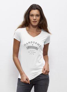 Jennifer - Damen T-Shirt mit V-Ausschnitt