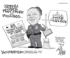 Streeter Cartoon: Police Sweep | savannahnow.com