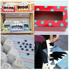 Tissue box monsters. My youngest will love this project!