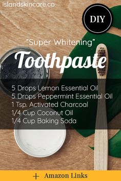wanna learn how to make whitening charcoal toothpaste from natural ingredients? this is a super easy DIY homemade recipe, it will destroy the bacteria and stains on your teeth, help with receding gums Toothpaste Recipe, Homemade Toothpaste, Natural Toothpaste, How To Make Toothpaste, Coconut Oil Toothpaste, Coconut Oil Shampoo, Baking Soda Water, Baking Soda Shampoo, Baking Soda Uses