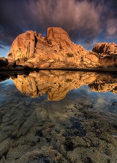 Morning Reflection at Barker Dam Barker Dam, Joshua Tree National Park - California