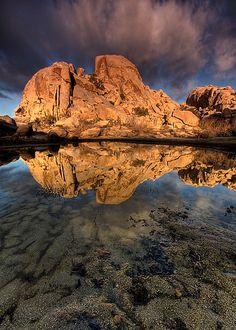 Morning Reflection at Barker Dam Barker Dam, Joshua Tree National Park - California