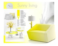 """Sunny living."" by rugile-pp ❤ liked on Polyvore featuring interior, interiors, interior design, home, home decor, interior decorating, LA CHANCE, Lux-Art Silks, Room Essentials and Stray Dog Designs"