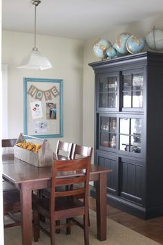 Do double duty for your cutie patooties (dining table/homeschool space)
