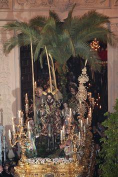 La Borriquita saliendo de la Parroquia de El Divino Salvador Sevilla