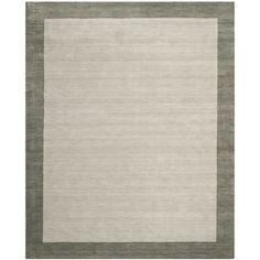 Short- pile .   Safavieh Handmade Himalayan Gabeh Grey Wool Rug (8'9 x 12')