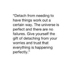 Detachment.