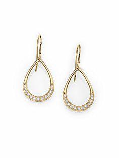 IPPOLITA Diamond & 18K Yellow Gold Teardrop Earrings=1750.<3<3